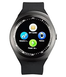 Mobilefit Bluetooth Smart Watch/Camera & Fashion New Arrival Hot Fashion Premium Quality Lowest Price Sports/ Outdoor/Health/ Digital Touch Screen/Lightweight...(Black) Compatible for Spice Mi-280