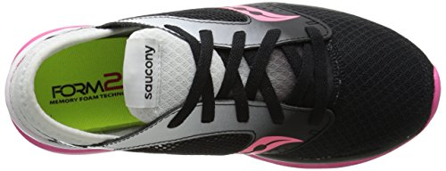 Saucony Women's Kineta Relay Road Running Shoe, Coral/Mint, 10 M US Blanc/noir/rose