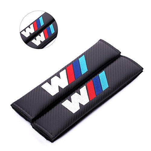 Fireman's Pair New Carbon Fiber Seat Belt Cover Shoulder Pad Cushion For All E Series M Logo Seat Belt Padding Model -