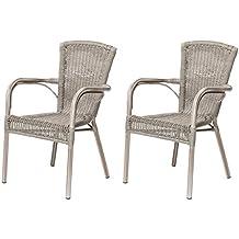 Lote de 2 sillones de resina Verona para el exterior barato