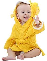 DINGANG® Bebé con capucha albornoz y toalla, 0 – 12 meses, ...