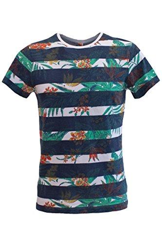 Blend of America -  T-shirt - T-shirt  - Collo a U - Maniche corte  - Uomo blu Large