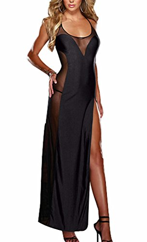 Awake Damen Sexy Dessous Kleid Maxi Langes Kleid (Puppenhaus Womens)