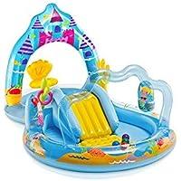Juegos hinchable Intex Mermaid Kingdom Play Center, con piscinetta y tobogán 57139NP
