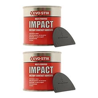 2 x Evo Stik Multi Purpose Impact Instant Contact Adhesive 250ml