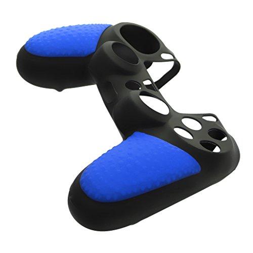 Cubierta Protectora de Silicona Gel para PS4 Gamepad PlayStation 4 Controlador Color Azul