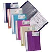 New , Snopake Lite Display Book Durable Polypropylene 20 Pockets Assorted Ref 15413 [Pack 12]