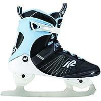 K2 Damen Schlittschuhe Alexis Ice FB Schwarz Hellblau Weiss 25C0050.1.1 Eislaufschuhe Ice Skates Eishockey-Schlittschuhe Fitness