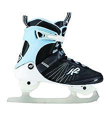 K2 Damen Schlittschuhe Alexis Ice FB - Schwarz-Weiß-Hellblau - EU: 38 (US: 7.5 - UK: 5) - 25C0050.1.1.075