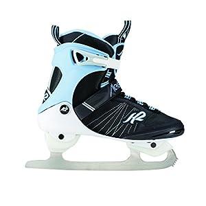 K2 Damen Schlittschuhe Alexis Ice FB – schwarz-weiß-hellblau – 25C0050.1.1