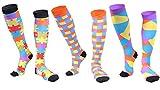 Longwu (8 paires/(3 paires) Chaussettes de Compression pour Hommes et Femmes, Meilleure Forme Sportive pour Courir, infirmières, Voyage en Avion et Grossesse de maternité