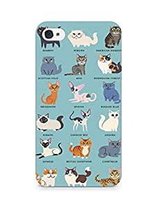 Amez designer printed 3d premium high quality back case cover for Apple iPhone 4s (Cat Names)