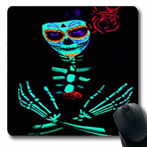 Kostüm Saints - Luancrop Mousepads Zucker Junges Mädchen Santa One Muerte Saint Kostüm Studio Oblong Gaming Mouse Pad rutschfeste Gummimatte