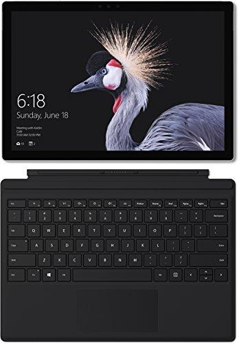 Microsoft work surface Pro (12,3 Zoll) Notebook (Intel major m3, 4 GB RAM, 128 GB SSD, Windows 10 Pro) silber, ohne Stift + work surface Pro Type Cover schwarz DE