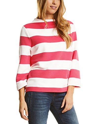 Modischer Pullover aus der Kollektion von Street One in colada pink.- Stehkragen- lange Ärmel- breite, weiße Streifen- bequeme Passform45% Polyester35% Baumwolle11% ViskoseMaschinenwäsche
