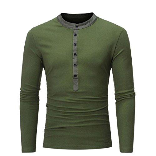 (Heiß Verkauf ! Kobay Männer Casual Slim Fit Langarm T-Shirt Shirt Tops)