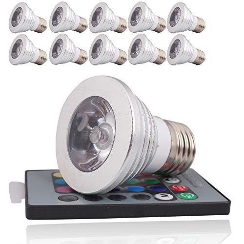 10 Light Bulb Ir 3w E27 Color Stück Led Remote 85v With Controller Multi Rgb Lamp 265v reCxoWBd