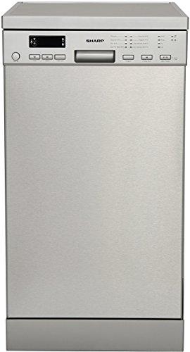 Sharp QW-S24F443I-DE / Geschirrspüler freistehend 45 cm / A+++ / 10 Maßgedecke / 8 Programme / Startzeitvorwahl / 9 L Wasserverbrauch / Besteckschublade / AquaStop / Edelstahl