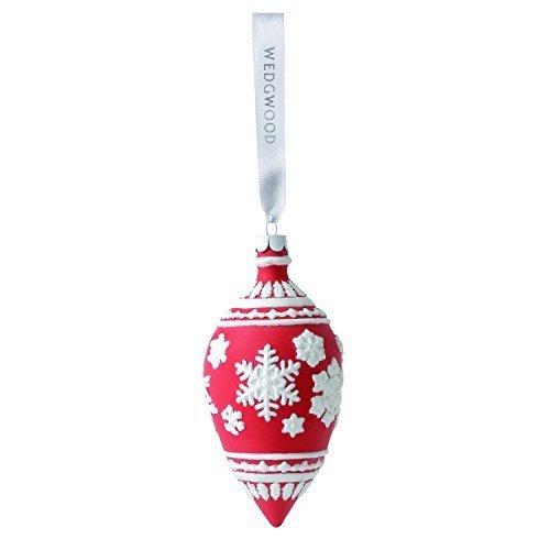 Wedgwood Snowflake Teardrop Christmas Ornament, Red by Wedgwood -