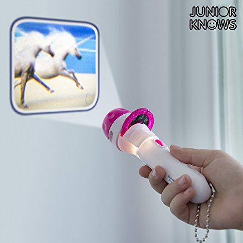 Einhorn Projektions Taschenlampe mit 24 Einhornmotiven, inkl. Batterien, ca. 11,5 cm