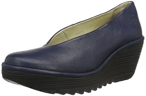 Fly London Yaz - Scarpe con zeppa donna Blu (Ocean 195)