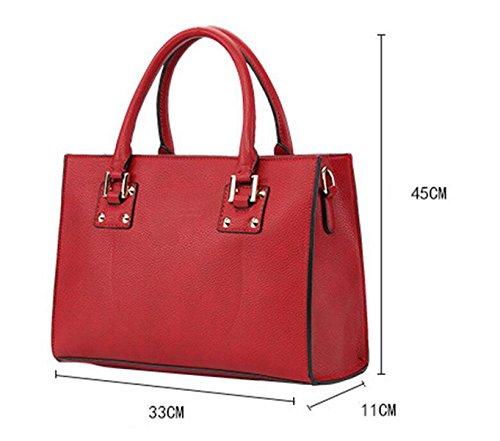 Handtasche Schultertasche Messenger Bag Freizeithandtasche Einfach Wilde Black
