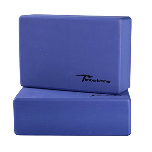 Timberbrother Lot de 2 Blocs de Yoga (Violet, 23 x 15 x 7.6cm (2pc))