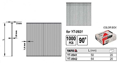 Nägel Streifennägel 90° für Druckluftnagler 64 x 1,8mm