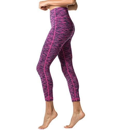 LAPASA Donna Allenamento Leggings Opaco Yoga Fitness Spandex Palestra Pantaloni L01 (S/40(Vita 64-74 cm), Viola spazio-colorante)