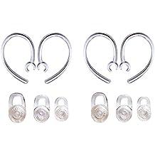 Set 6PCS SML auriculares 4pcs Good para auriculares Plantronics Voyager Edge funda para auriculares Auriculares inalámbricos Earloops Earclips pequeño mediano y grande Eargels almohadillas ganchos para la oreja Bud Gel