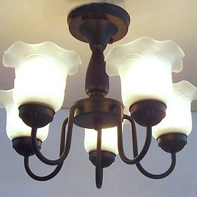 HJ Floreale Lampadario Ombra, 5 Luce, pittura classica in metallo(BBBY) , 220-240V