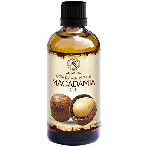Natürliche Gesicht (Macadamia Öl Kaltgepresstes 100ml - Macadamia Integrifolia - Südafrika - 100% Rein und Natürlich - Beste für Gesicht - Körper - Massage - Körper - Geruchsfrei - Glasflasche)