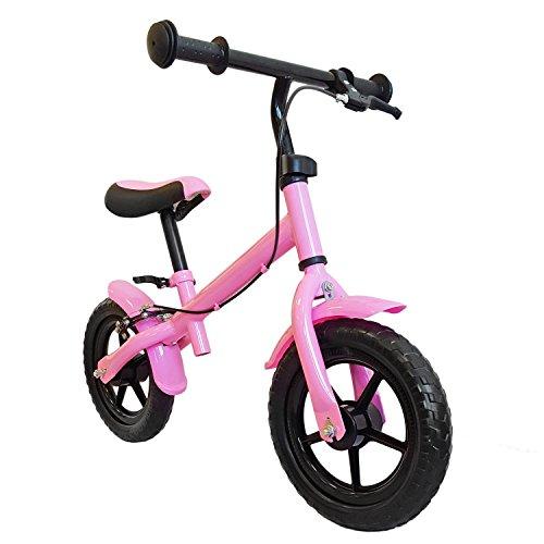Bicicletta senza pedali, con freno a mano, ruote circa 30,3cm (12pollici), colore rosa, mitwachsendes lernlaufrad, Girello, Roller per bambini a partire dai 2anni