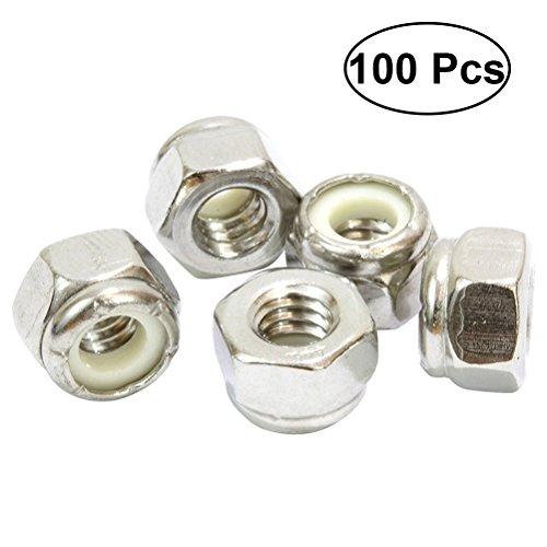 8 Nylon-einsatz (OUNONA 1005/16-18Kontermutter Edelstahl Finish Hex 30418-8Edelstahl mit Nylon Einsatz)