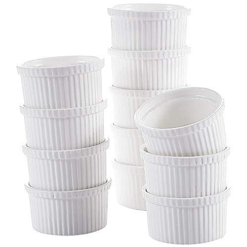 MALACASA,Series Ramekin.Dish,12 Piezas, Mini Moldes