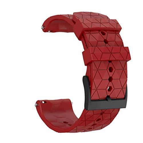 xue binghualoll Smart Watch Armband Zubehör,Uhrenarmband,Armband,Strap Weave,Silikon Ersatz Sport WristStrap Uhrenarmband für SUUNTO 9 / Baro Smart Watch