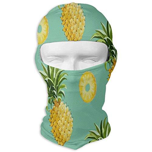 Hoklcvd Balaclava Pineapple Clipart Full Face Masks Ski Sports Cap Motorcycle Neck Hood Multicolor17 -