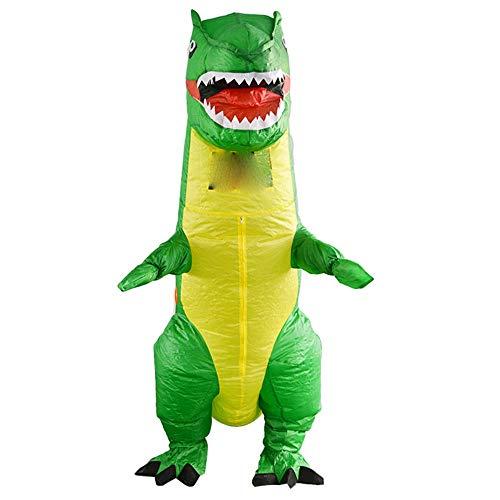 Blow Up Kostüm Dinosaurier - lem Dinosaurier Aufblasbare Blow Up Ganzkörperanzug Overall Kostüm Halloween Rollenspiele für Erwachsene Männer und Frauen Kleidung