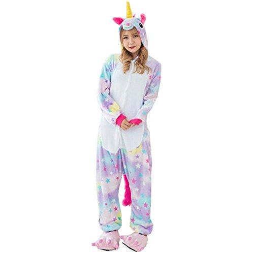 Rainbow Fox Einhorn Pyjama Erwachsene Unisex Cosplay Kostüm Tier ...