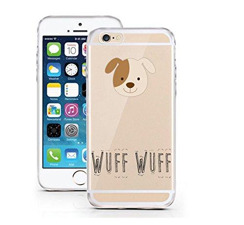 "licaso® iPhone 6 6S 4,7"" TPU Tierchen Panda Hülle Sketch Unicorn Case transparent klare Schutzhülle Disney Hülle iphone6 Tasche Cover (iPhone 6 6S 4,7"", Tierchen Panda) Tierchen Hund"