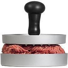 AEG AHP01 Premium Burgerpresse aus Aluguss mit Antihaftbeschichtung und Komfortgriff + 20 Blatt Backpapier/Hamburgerpresse / Hamburger-Presse/Burger Maker/LFGB zertifiziert