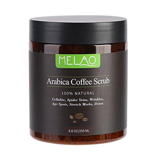 Natürliche Arabica Coffee Scrub mit Koffein stimulieren Durchblutung Anti Cellulite reduzieren Dehnungsstreifen Spider Vene gegen Falten Altersflecken Detox Peeling