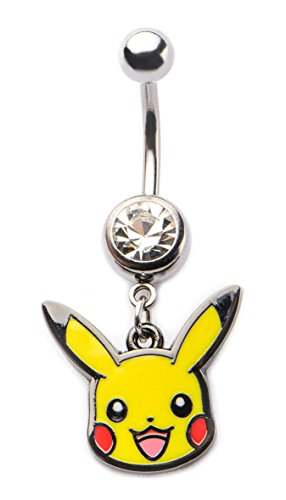 Pokemon 14g 7/16Navel mit Pikachu Kopf baumeln Charme (Pokemon Bauch)
