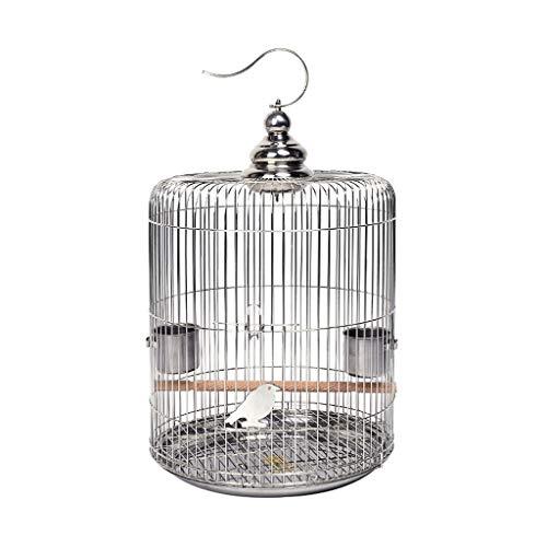 Haustier Vogelkäfig Hohle Edelstahl-Vogelkäfige Drossel Birdcages Starling Birdhouses Finch Canary Birds Pet Cages Vögel Käfige (Größe : 30CM) -