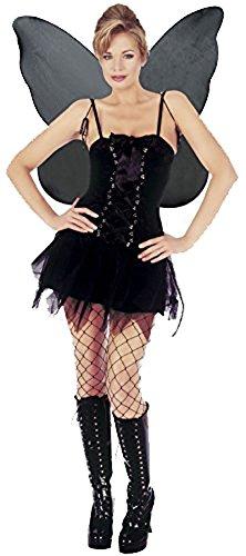 Mix lot New Frauen Halloween eingestuft gotische Fee / gefallenen Engel-Kostüm-Damen sexy böse Fee Outfit criss Querband vorne Mädchen Phantasie Flügel Party-Kleid Größe S / M / L / XL (Fee Kostüme Gefallene)