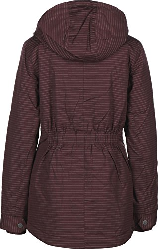 Ragwear Winterjacke Monade Stripes - dark choco - VEGAN (M)