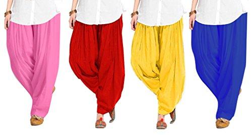 Spangel Enterprise Women's Soft Cotton Full Stitched Ready made Patiala Pants Bottom...