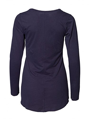 DAILY'S KRISTIE Damen Langarmshirt mit Rundhalsausschnitt aus Seacell und Bio-Baumwolle - soziale fair trade Kleidung, Mode vegan und nachhaltig Color midnight, Size S - 2