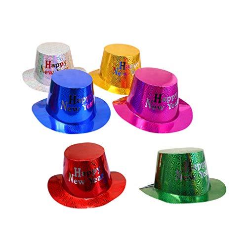 Amosfun 6 piezas 2020 feliz año nuevo sombreros fiesta