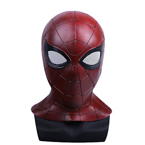 Cosplay Maskerade Helm Halloween Maske Spider-Man Homecoming Maske für Erwachsene, Spiderman Hood Helm Comics Held Kopfbedeckung Kostüm Cosplay für Erwachsene und Jugendliche,Spiderman B-53cm~60cm